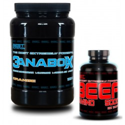 3AnabolX + BEEF Amino 1000g+250 tab - BEST NUTRITION