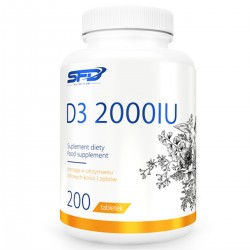 VITAMIN D3 2000 IU 200 tab - SFD