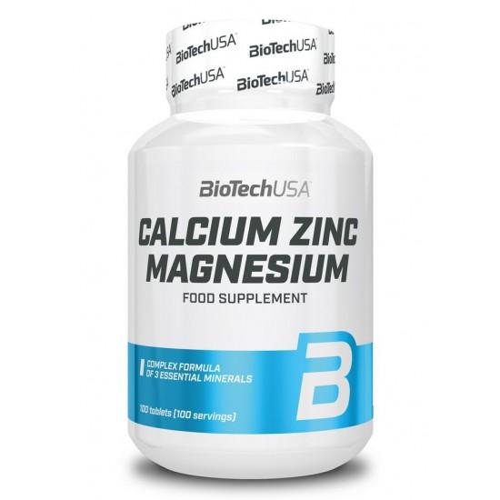 Calcium Zinc Magnesium 100 tab - BIOTECH USA