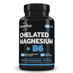Chelated Magnesium+B6 - 100 tab - WARRIOR