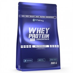 Whey Protein 100 Concentrate 900g - FITWhey