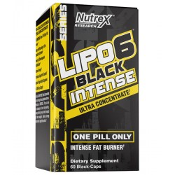 LIPO 6 BLACK INTENSE ULTRA CONCENTRATE 60 KAPS - NUTREX