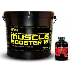 Muscle Booster + BEEF Amino Zadarmo - Best Nutrition 7kg + 250tbl.