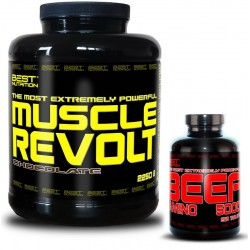Muscle Revolt + BEEF Amino Zadarmo - Best Nutrition 2250g + 250tbl.