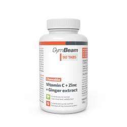 Vitamín C + Zinok + extrakt zo zázvoru tablety na cmúľanie  90 tab - GYMBEAM